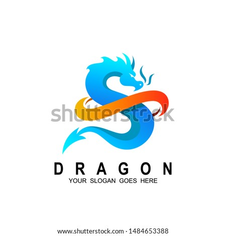 dragon logo with letter s
