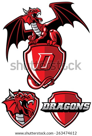 dragon mascot set
