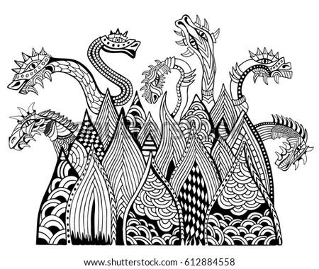 dragon mountain coloring book