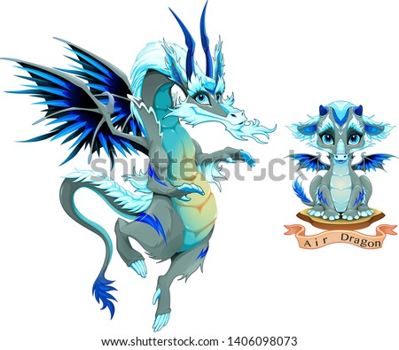 dragon of air element in two