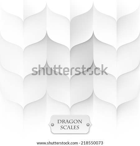 dragon scales  white background