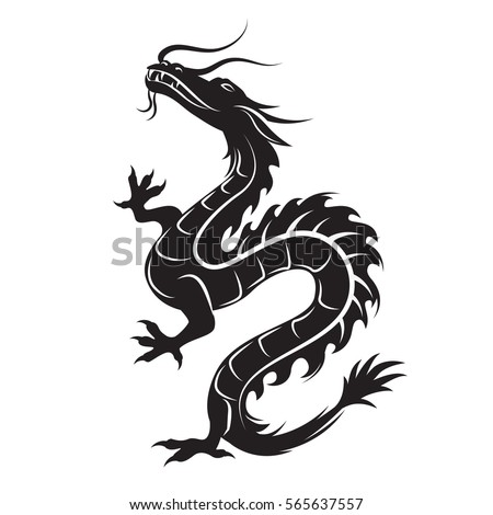 dragon silhouette dragon