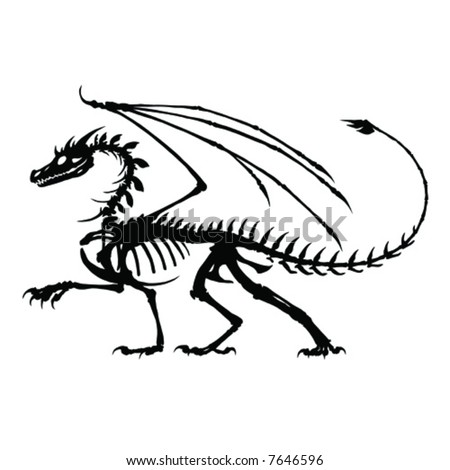 Dragon Tattoo Royalty Free Stock Vector Art Illustration