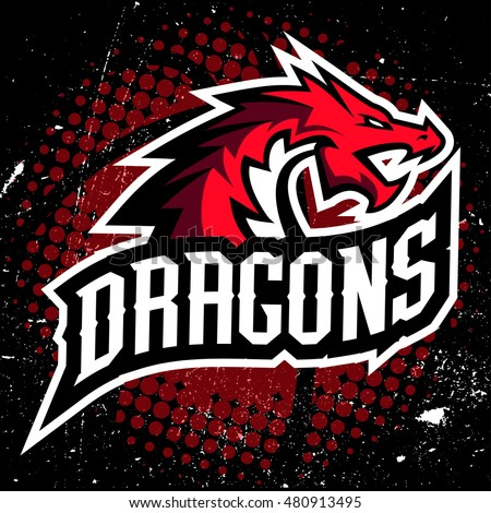 dragon sport logo basketball
