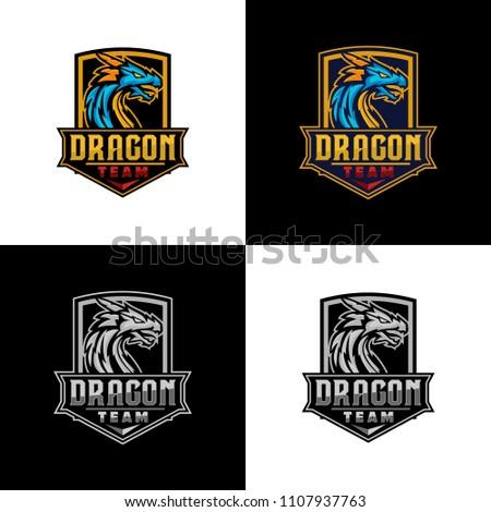 dragon sport logo template