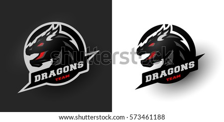dragon sport logo two options