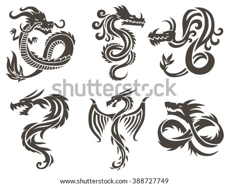 dragon tattoo white background