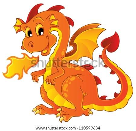 Dragon theme image 7 - vector illustration.