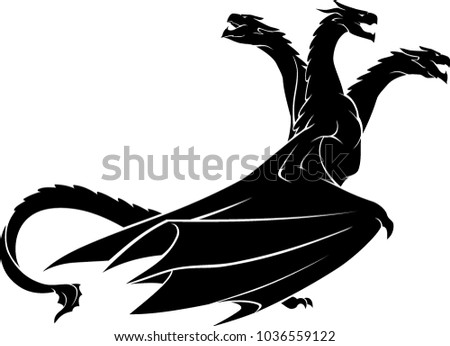 dragon three headed side view