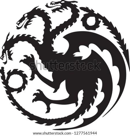 dragon three heads symbol