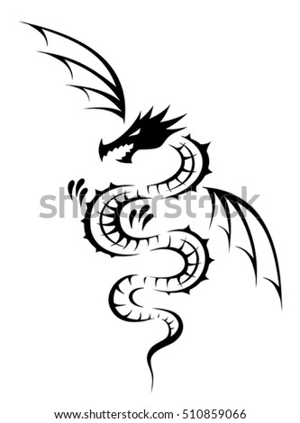 dragon tribal tattoo