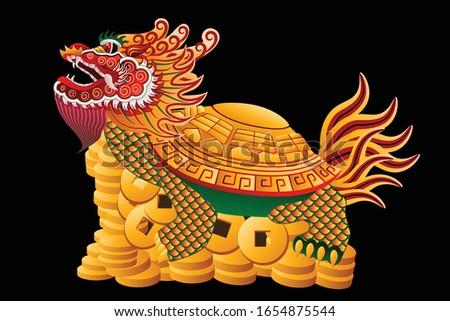 dragon turtle chinese talisman