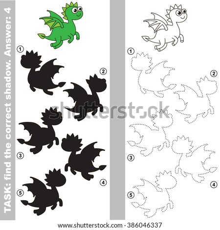 dragon with different shadows