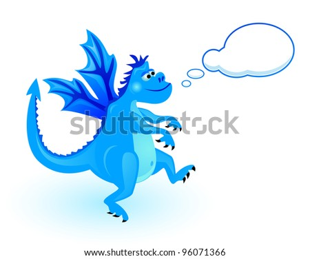 Dragon with speech bubble