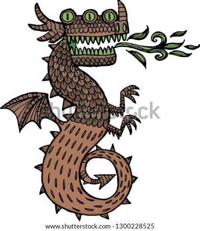 dragon with three eyes