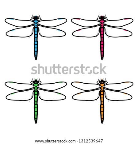 dragonflies logos symbols icons