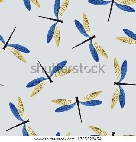 dragonfly cartoon seamless