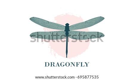 dragonfly logo design template