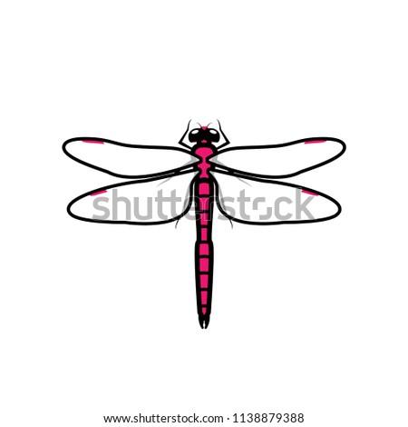 dragonfly logo symbol icon sign