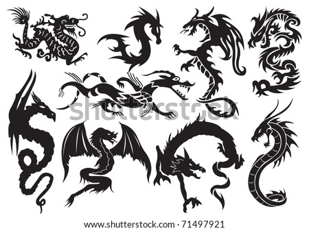 dragons vector illustration