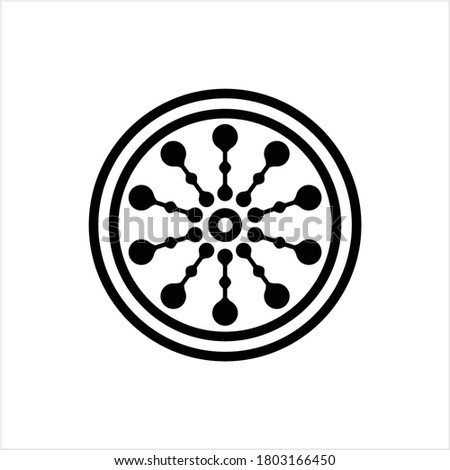 Drain Hole Grille Icon, Sink Grille Icon Vector Art Illustration stock photo