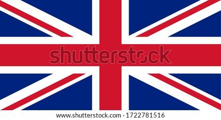 Drapeau du Royaume-Uni vectoriel, Grande-Bretagne Foto d'archivio ©