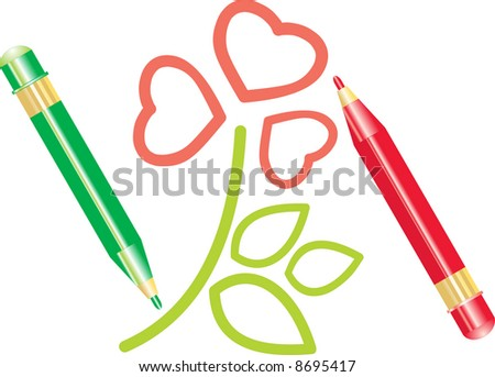 how to draw a six petal flower