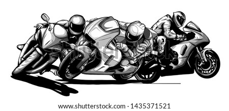 draw motorcycles racers biker
