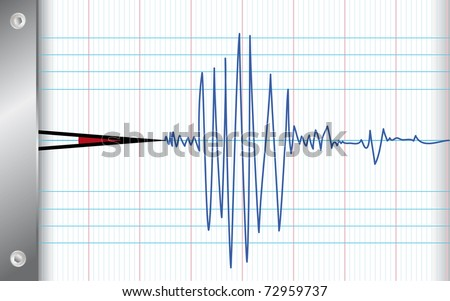 draw of seismometer in earthquake