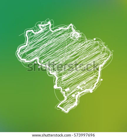 draw sketch brazil map