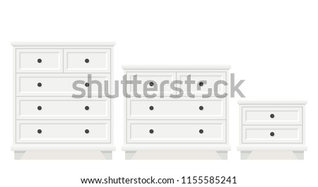 drawer chest  dresser  bedside