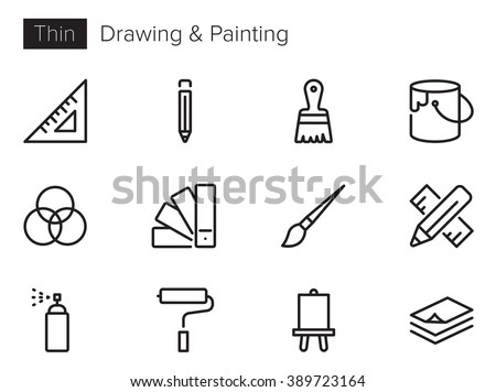 drawing and painting vector