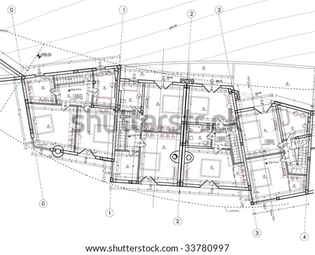 Drawing apartment plan stock vector illustration for Apartment stock plans