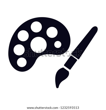 Drawing Arts Picture Icon Vector