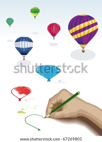 Drawing balloons