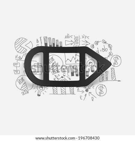 Drawing business formulas pencil