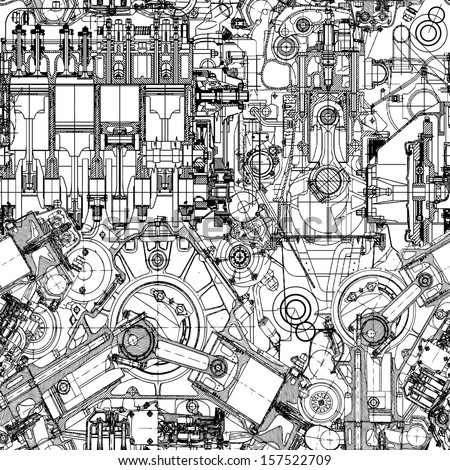 drawing engine seamless pattern
