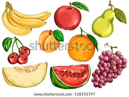 Fruit Sketch Drawing Drawing Foods Based on Fruits