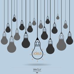 drawing idea light bulb concept creative design