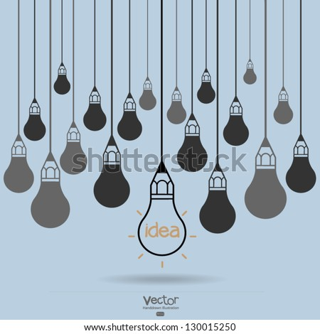 drawing idea light bulb concept creative design