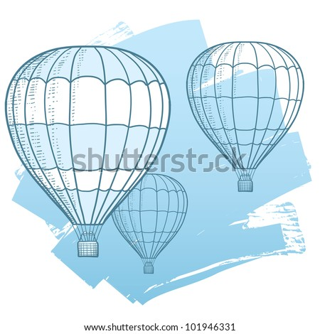 drawing illustration of hot air