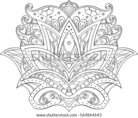 Vector Images Illustrations And Cliparts Drawing In Mehndi Style