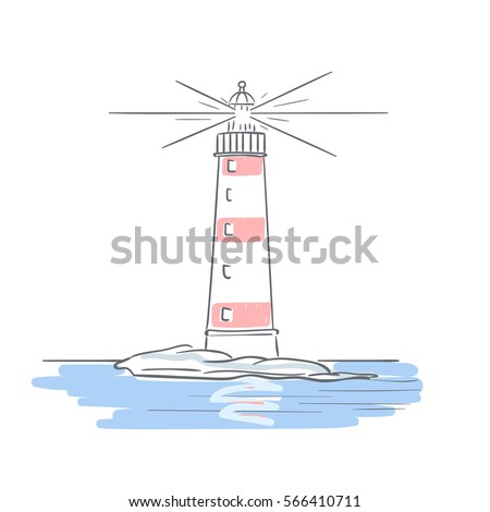 Drawing lighthouse