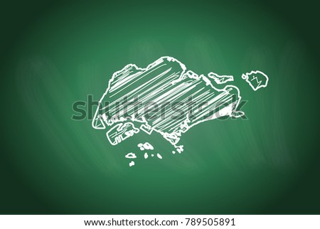 Scribble Style World Maps Vector - Download Free Vector Art