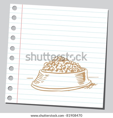 Drawing of a dog food