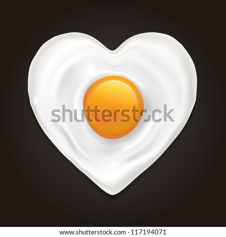 drawing of a heart shaped fried