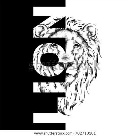 stock-vector-drawing-of-a-lion-s-head-graphic-design-of-the-cover-template-for-registration-vector
