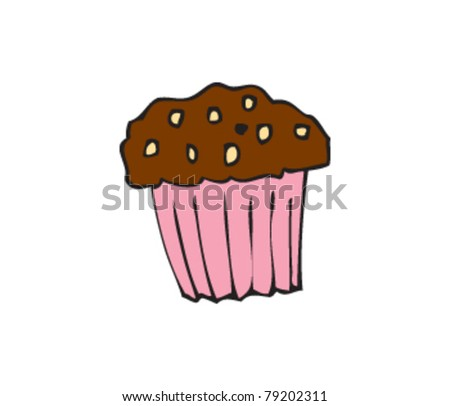 drawing of a muffin