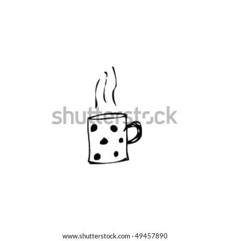 drawing of a mug