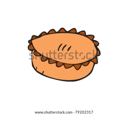 drawing of a pie